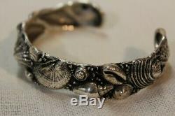Toulhoat Bracelet Coquillages Argent Massif Bretagne Celtique Silver