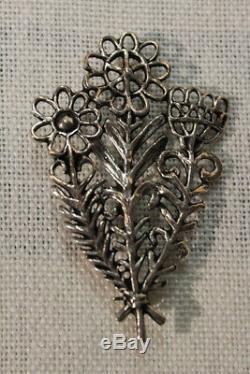 Toulhoat Broche Bouquet Argent Massif Neuf Bretagne Celtique Silver