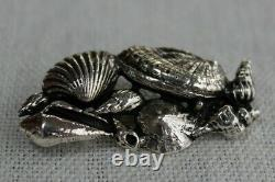 Toulhoat Broche Coquillages Argent Massif Silver Bretagne Celtique
