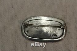Toulhoat Broche Hermine Passante A Devise Argent Massif Bretagne Celtique Silver