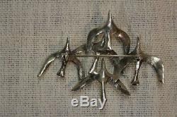 Toulhoat Broche Vol De Mouettes Argent Massif Silver Bretagne Celtique