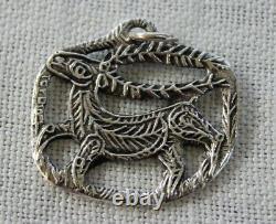 Toulhoat Pendentif Le Cerf Argent Massif Silver Bretagne Celtique