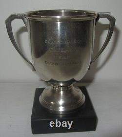 Trophée Coupe golf argent massif Art Déco 1955 Silver golf trophy