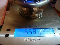 VERSEUSE ARGENT MASSIF 658 Grs SOLID SILVER TEA-POT COFFEE ARGENT A FONDRE