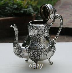 VERSEUSE ARGENT MASSIF LOUIS XV Sterling Silver Coffee or Tea Pot 856 grams
