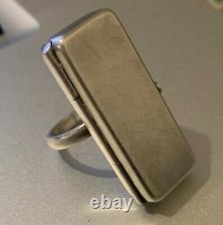 VINTAGE GEORG JENSEN PILL BOX RING No 146 ASTRID FOG argent/silver 925 S