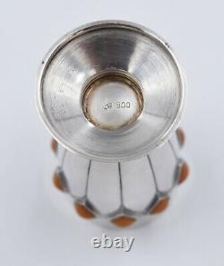 Vase Gobelet en Argent massif Avec Ambre Pierre goblets silver amber