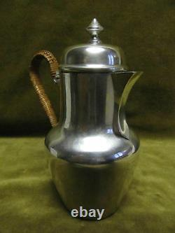 Verseuse egoiste marabout argent minerve (french silver coffee pot) 215g