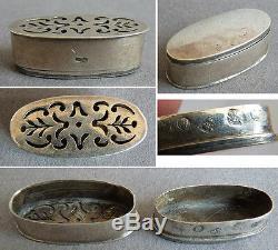 Vinaigrette en argent massif silver box 18e siècle boite à parfum senteur
