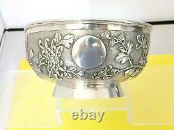 ZEEWO CHINESE EXPORT SILVER BOWL ARGENT MASSIF CHINE GRAND BOL 305g